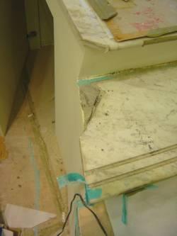 大理石樓梯缺角修補